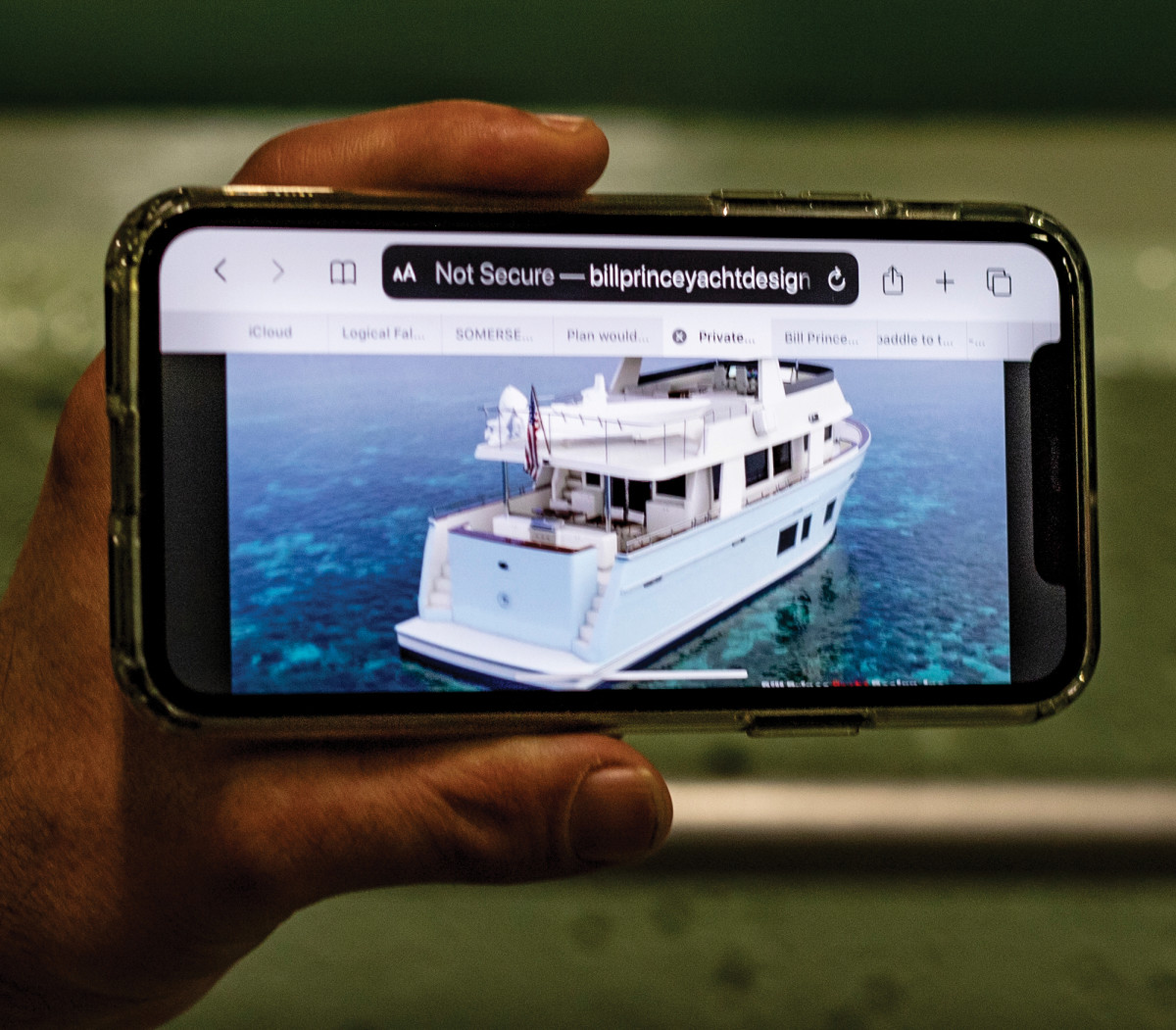 A rendering of the 57-foot pilothouse motoryacht being tested.