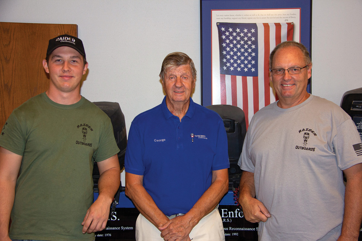 Left to right: Michael, George and Chris Woodruff, three generations of Raider.