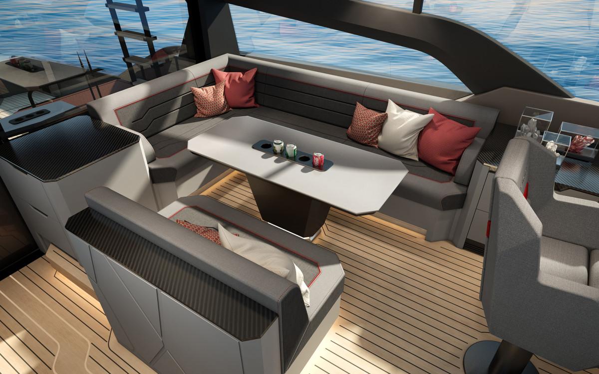 Vanquish VQ80 Deck Salon