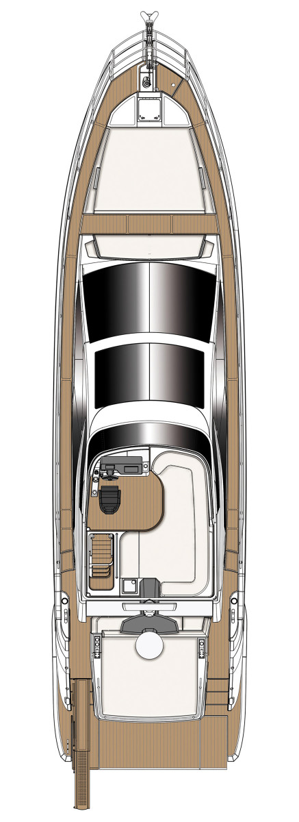 Above View Azimut S6 Sport Fly Version