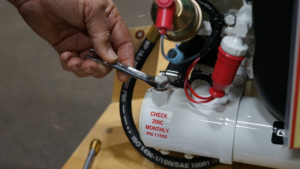Check the zincs in your generator's heat exchanger on a regular basis.