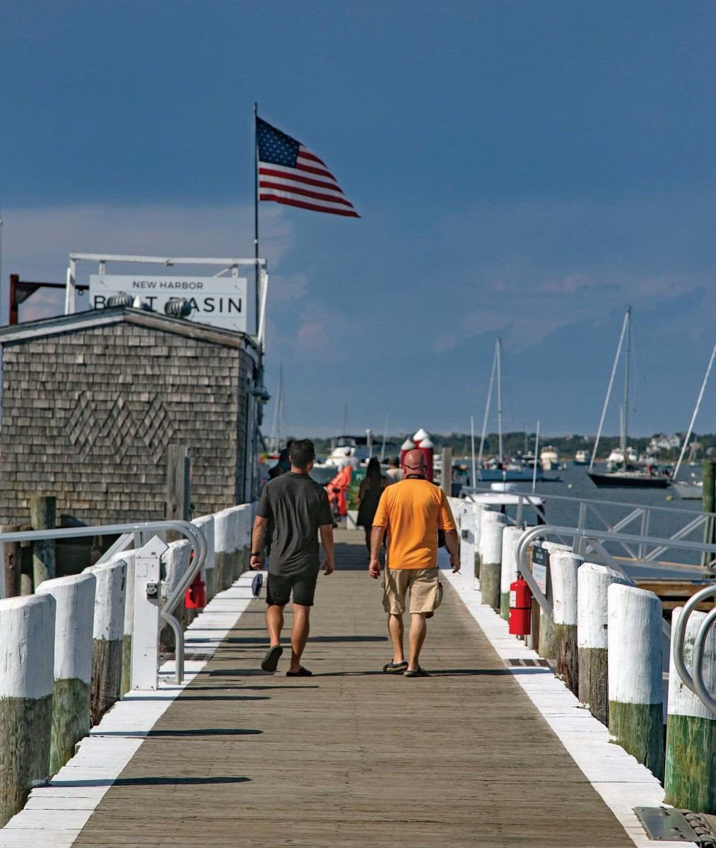 The Block Island Boat Basin is a gateway to summer activities, or in our case, lobster rolls and mudslides at The Oar.