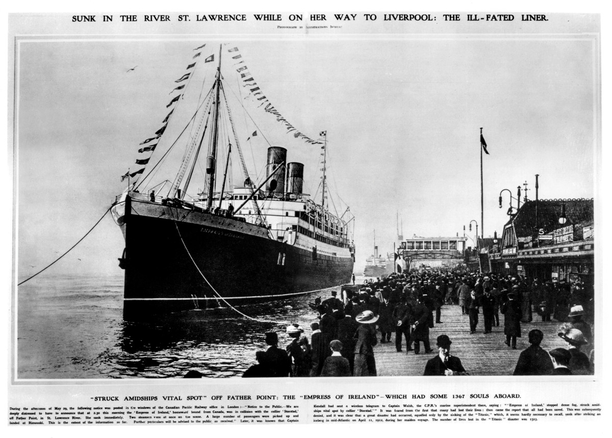 The Empress disembarking Quebec City.