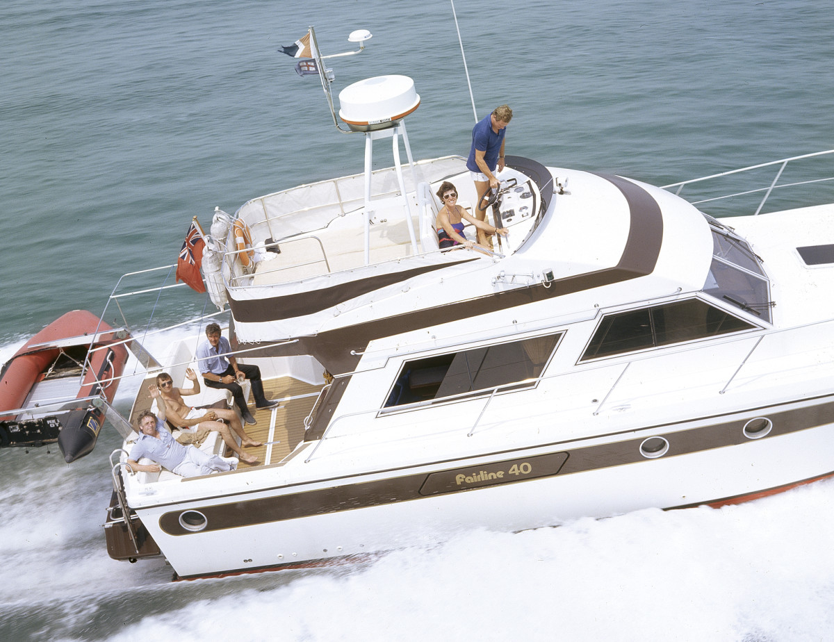 Launched in 1977, the Fairline 40 was a game changer: the largest production boat built in Britain at the time.