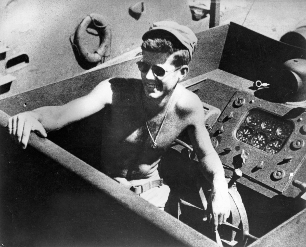 Jim and his brothers had a hard time believing their father's claim that he made friends with JFK during a sea trial.