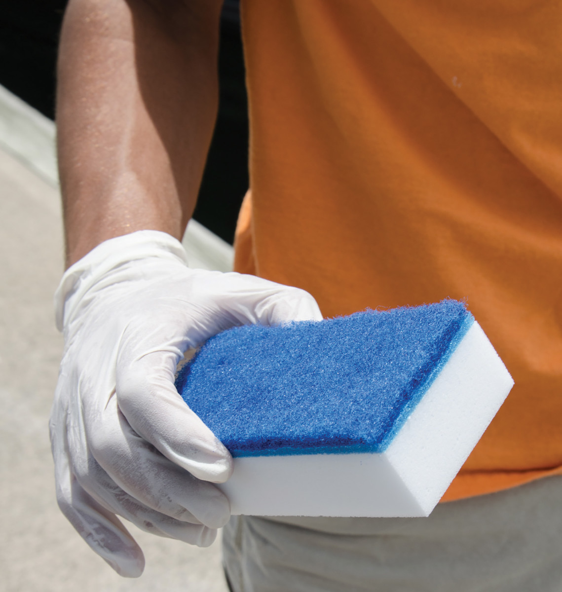 An eraser can help you remove stubborn stains.