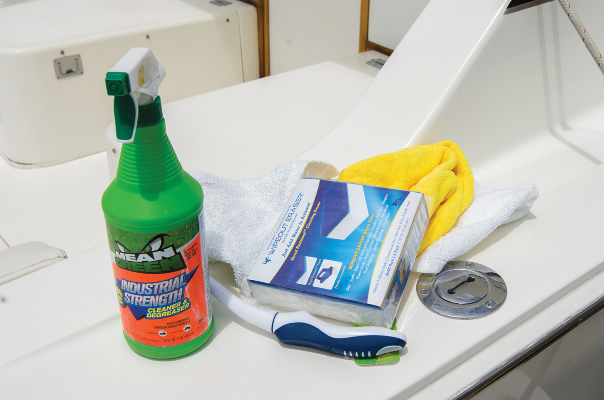Save on elbow grease by using quality boat cleaners.