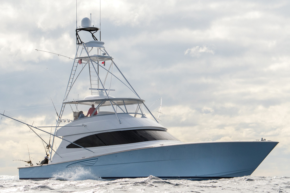 Perry Nichols' favorite thing is fishing, and his 72 Viking is customized so he can access just about every inch of the boat.