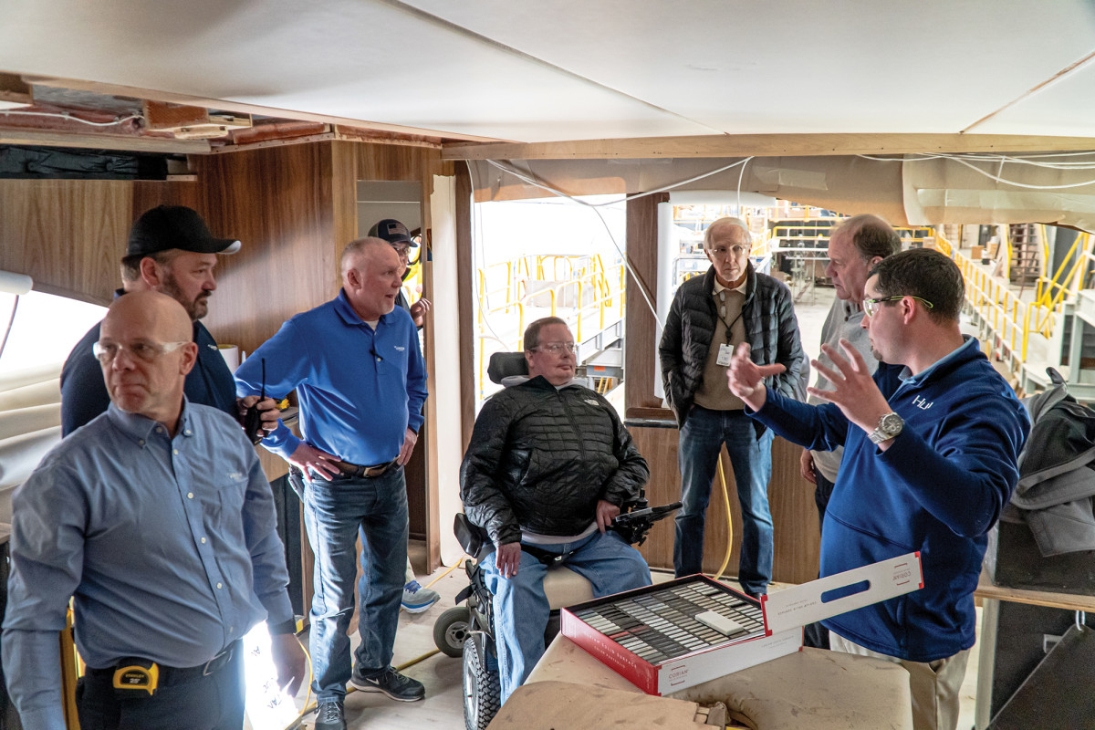 """Viking's Pat Healey met Nichols at a billfish tournament and was impressed with his 64. """"Next time you do this, I want to be involved,"""" he said."""