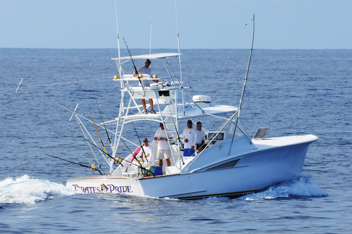Caison Yachts began with the 37-foot express style sportfisherman above.