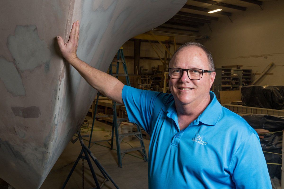 Donnie Caison taught himself the art of custom boatbuilding by jumping in with both hands.