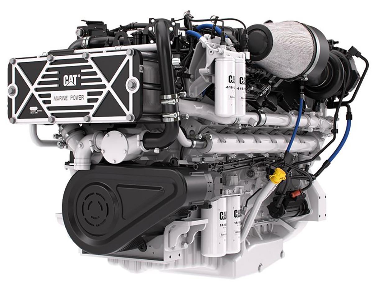 Caterpillar C32B Triple Turbo Marine Engine