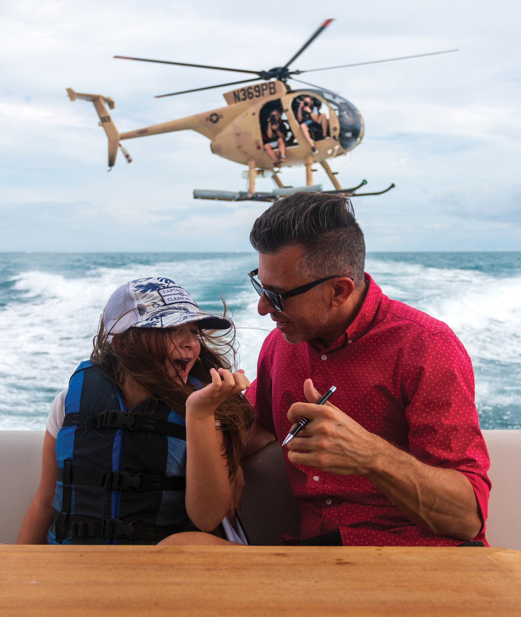 The author has been part of many helicopter shoots but this was by far his favorite, as he was able to share the experience with his daughter.