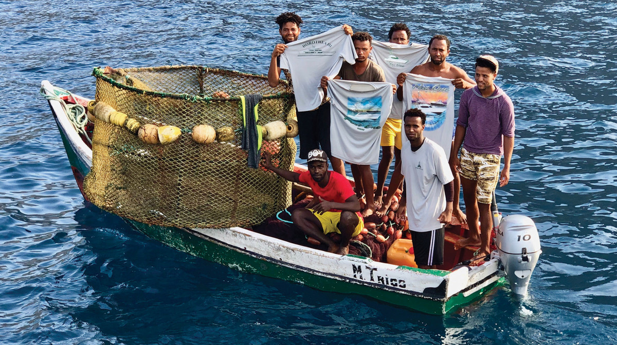Locals in Cape Verde after Marlin Mission fundraiser