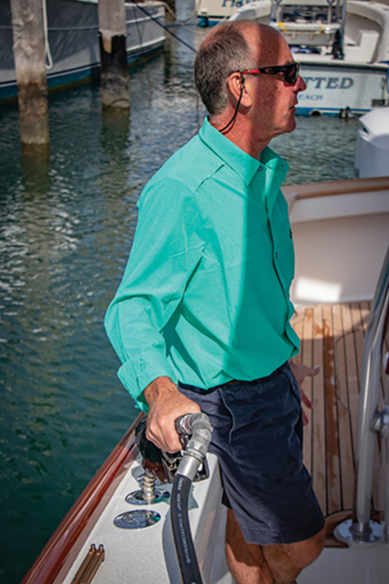 Fill up at reputable marinas or boatyards, ones that filter fuel thoroughly.