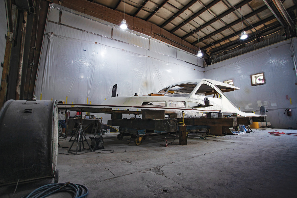 Is this the boat that will usher in the next era of Huckins boatbuilding? Our guess is that it just might be.