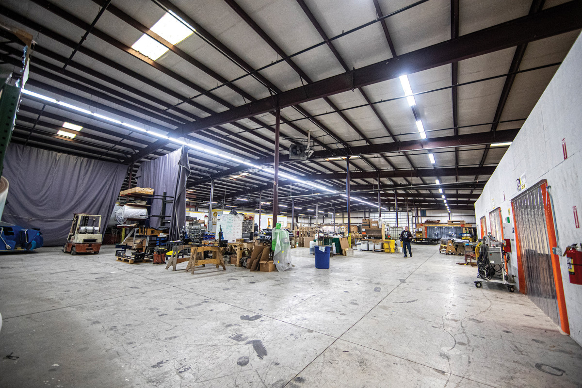 At Goetz Composites, a number of big-ticket projects are located inside a vacuous garage. Many are hidden from prying eyes.