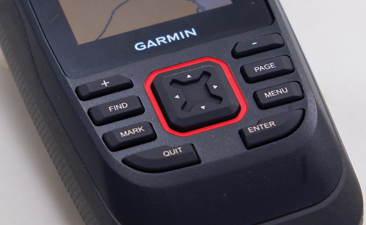 Large analog buttons allow for easy control when underway.
