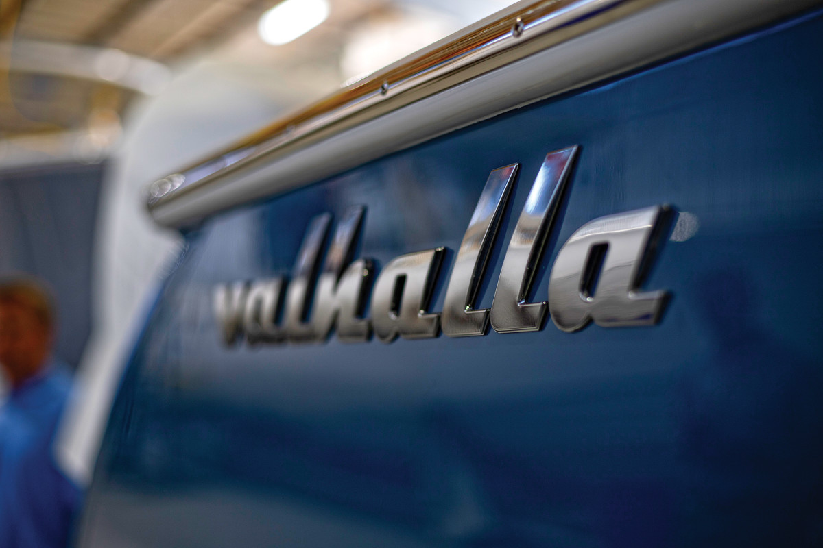 While a reference to the Viking afterlife, Valhalla is the name Bill Healey gave his Viking 42 Open.