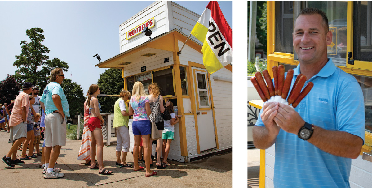 Diets be damned. A trip to Grand Haven, Michigan isn't complete without a couple (dozen) corndogs from Pronto Pups.