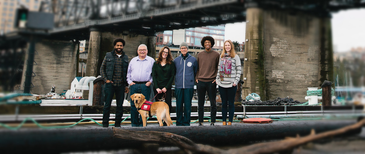 """""""By all means we're getting tools in these kids' hands,"""" said Dr. Shannon A. Shea (middle), executive director of Tacoma Boat Builders. """"But we also want them to advocate for themselves, to feel confident regardless of what they end up doing."""""""