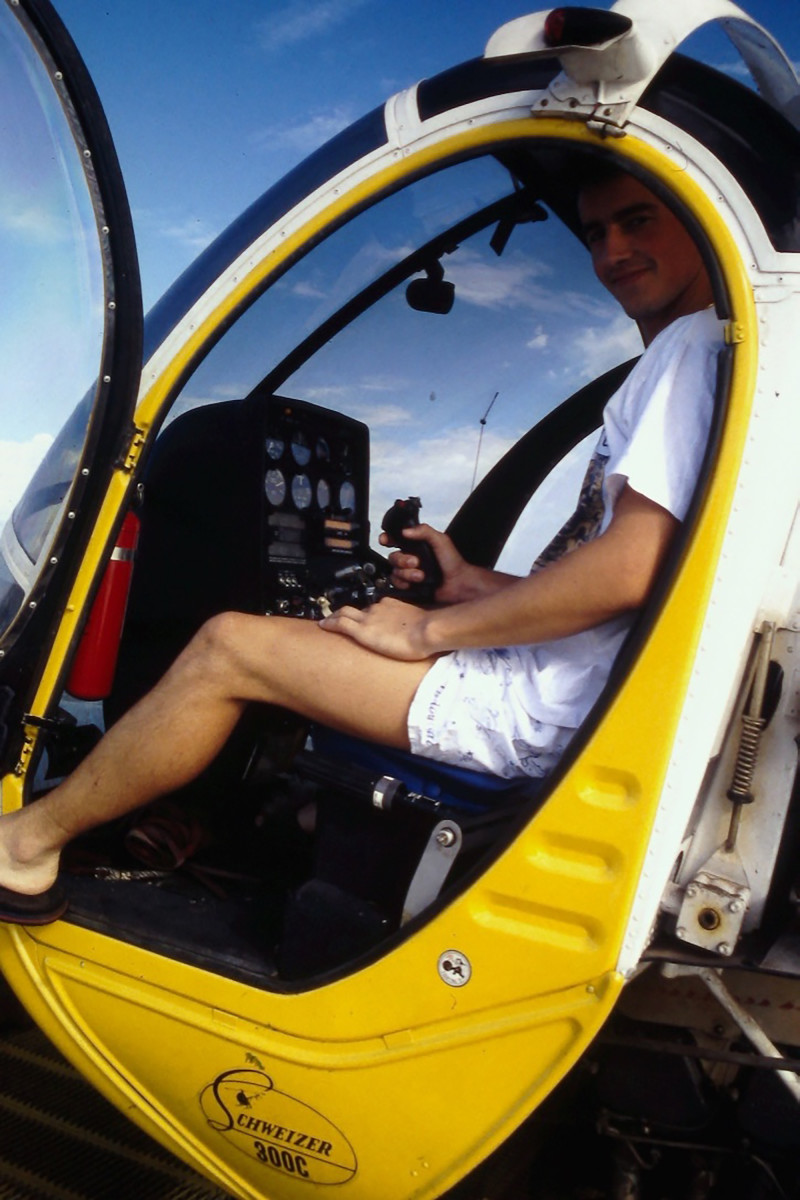 Cousteau's yellow bubble helicopter named Felix