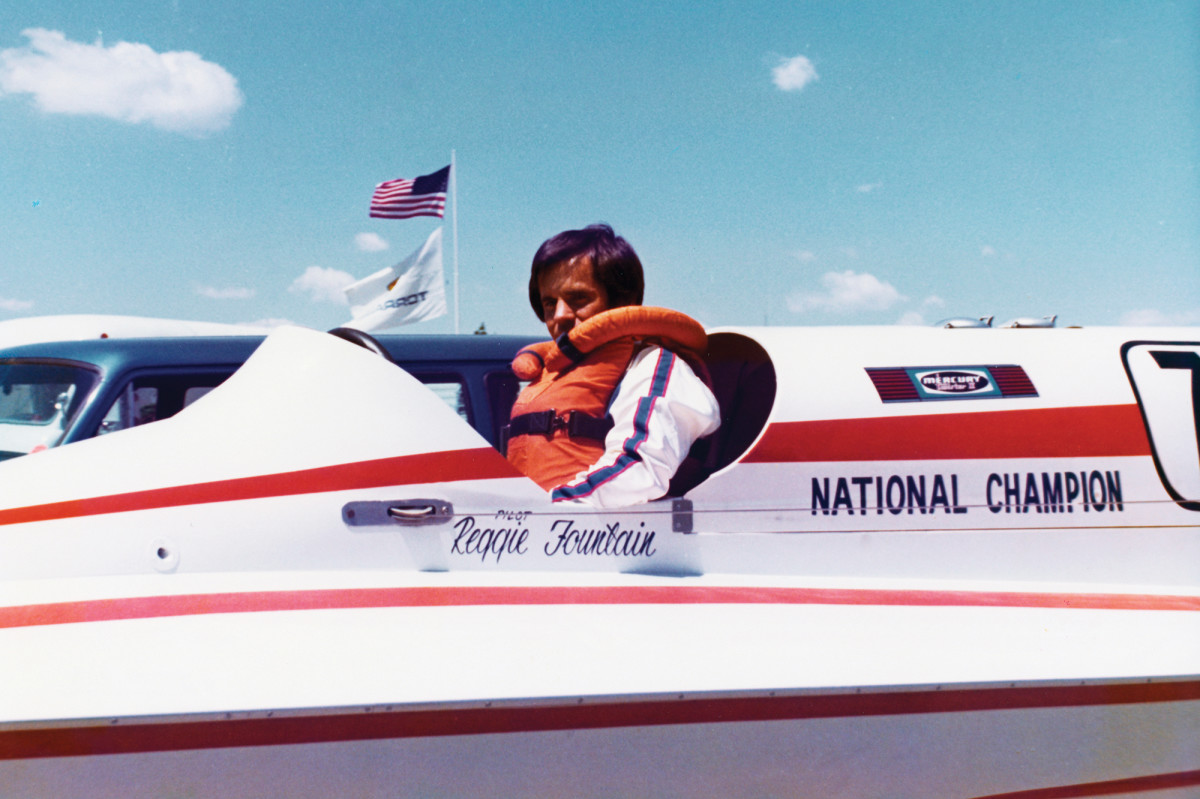 During his competitive racing career, Fountain tallied more than 100 wins against strong competitors, which also helped boat sales.