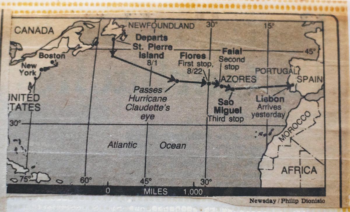 "The voyage of ""Trans-Atlantic"""