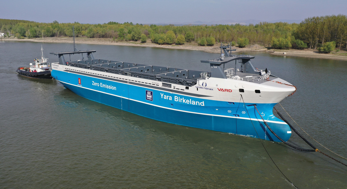 This Norwegian container ship, launched in 2020, is the first of its kind. Fully autonomous and fully electric, she produces zero emissions.