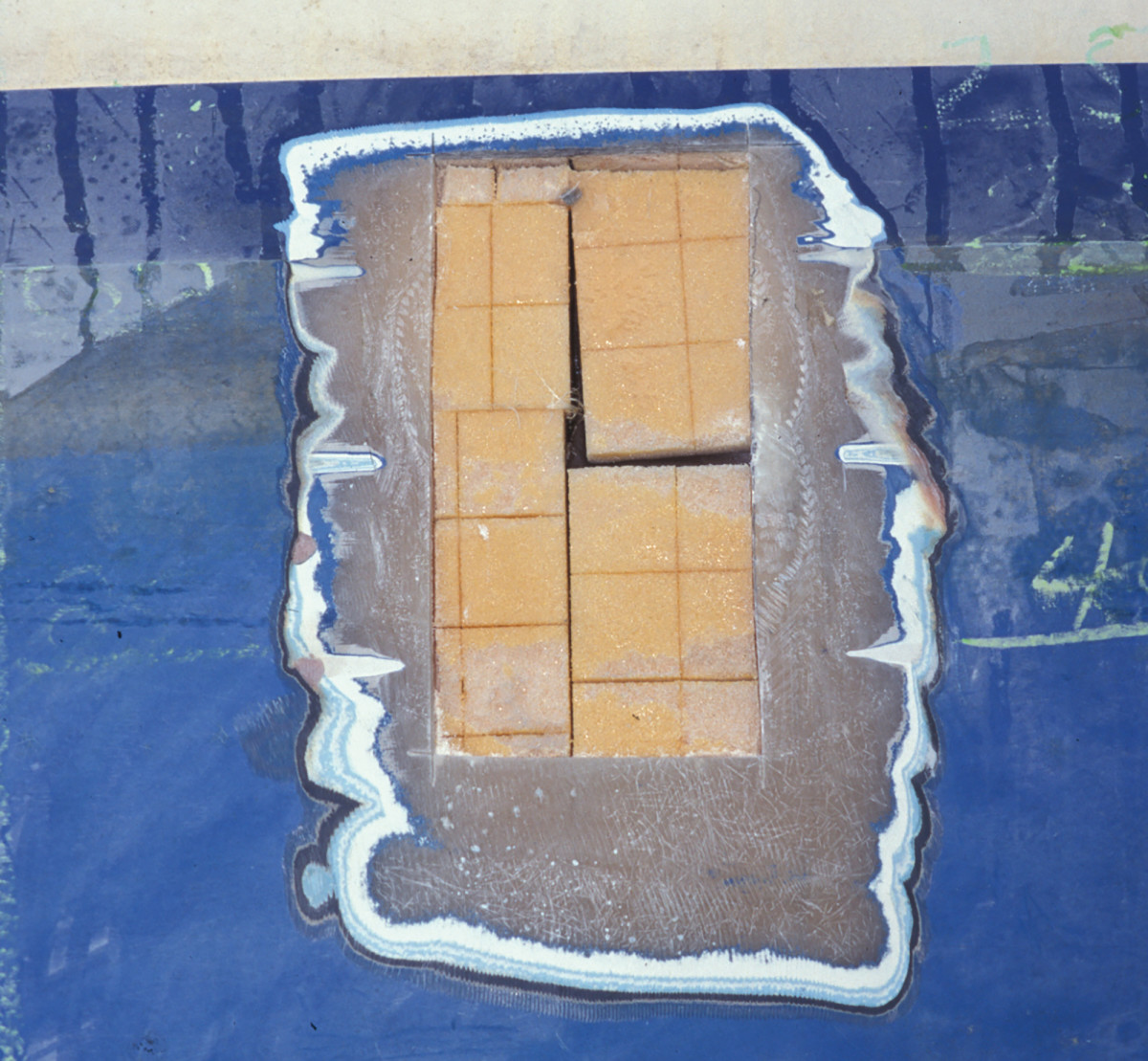 Core patch prepped for filler and resin.