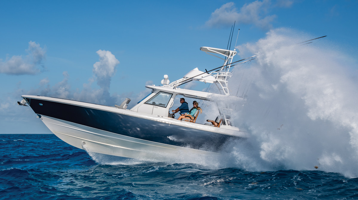 Thanks to the outboard-power arms race there are a lot of center consoles that can launch out of the water, but few land as softly as the 455CC.