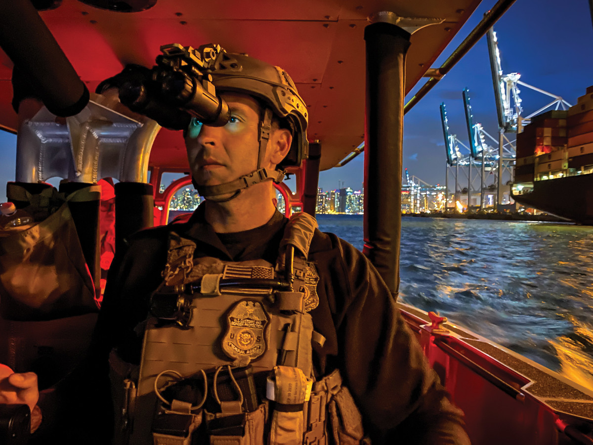 Agents use night-vision goggles and radar to run around in the dark with no lights.