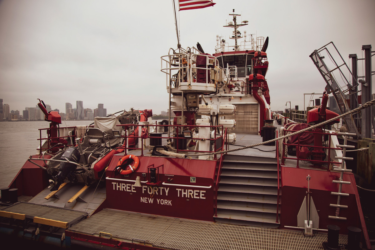 """Commissioned nine years after 9/11, """"Three Forty Three"""" replaced the """"McKean"""" and is the largest fireboat in the country at 140 feet."""